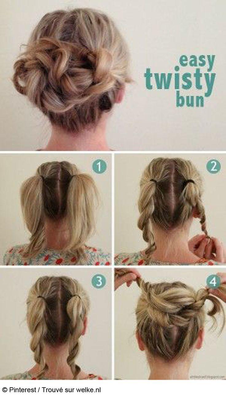Comment faire un chignon banane sur cheveux long