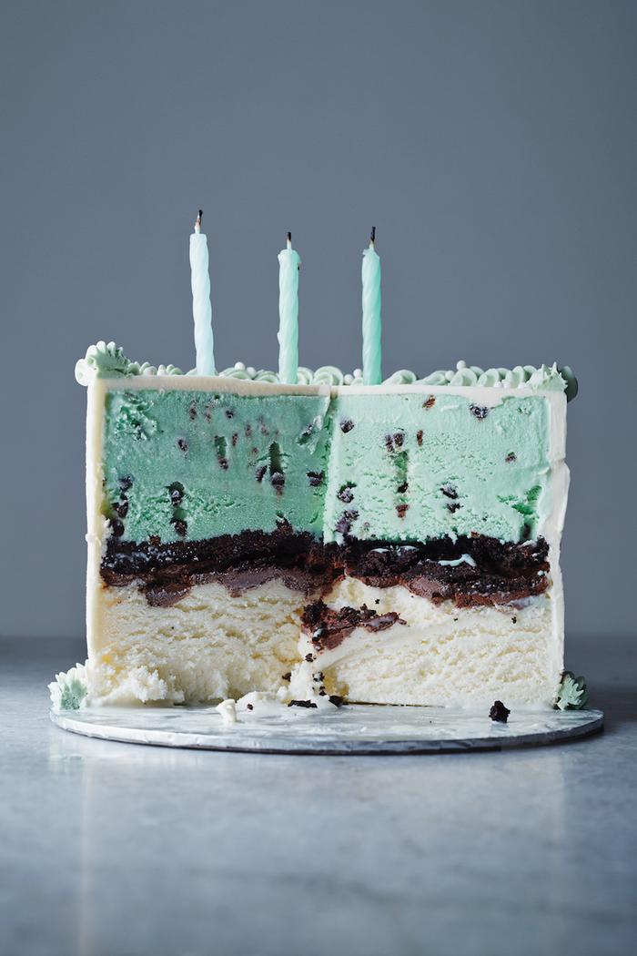 comment préparer un gateau d'anniversaire original, recette de gâteau à la glace maison
