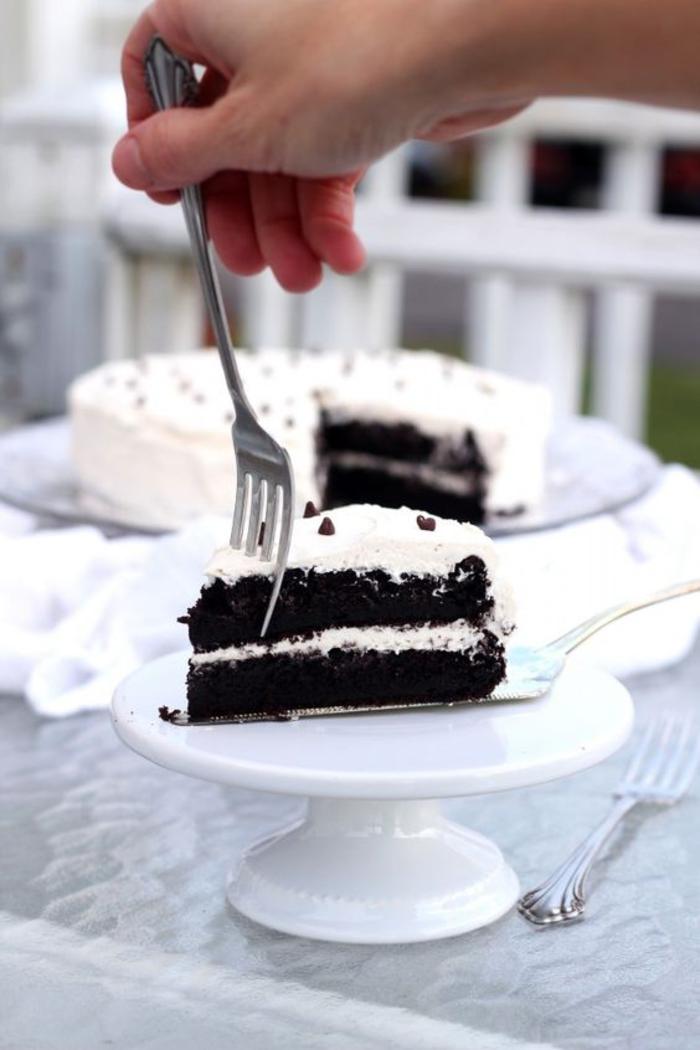 comment préparer un gâteau du diable au nappage de crème au beurre