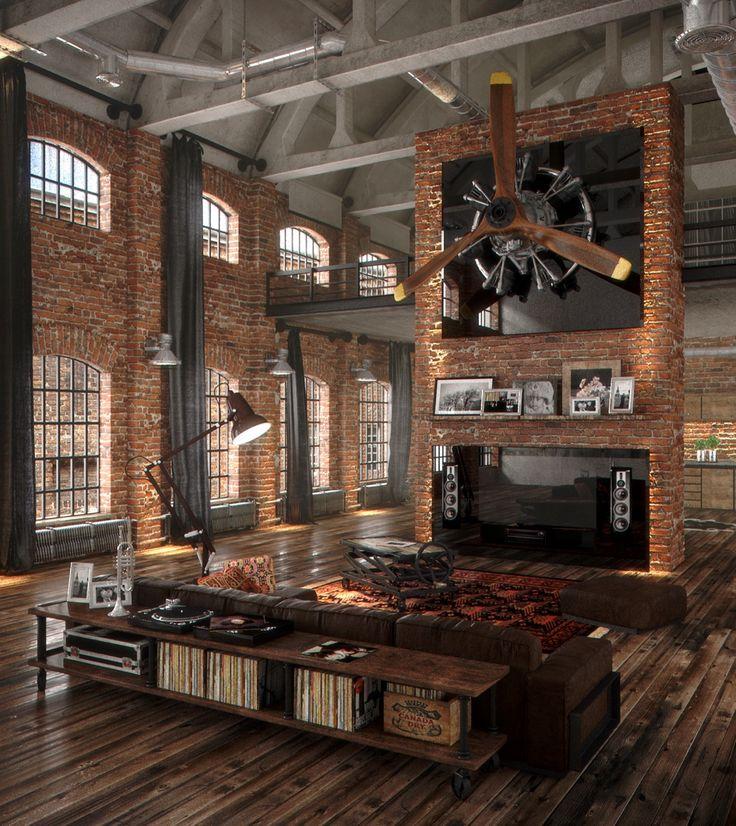 Top Living Room Design Styles: Best Decor Hacks : Industrial Style Living Room Design
