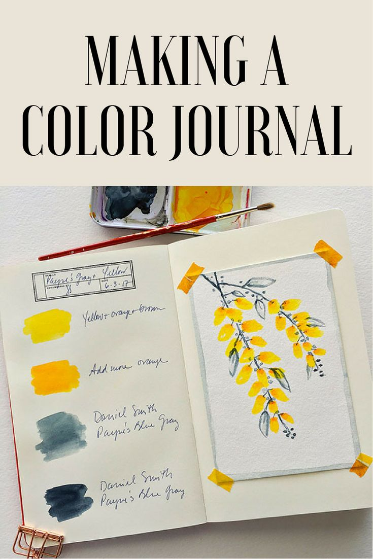 Best Decor Hacks : Keeping a color journal may be the best thing you can do for your mixed-media ar…