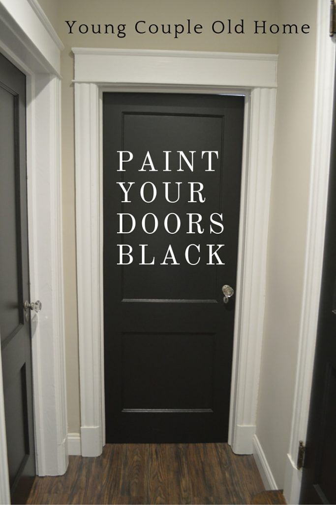 Best Decor Hacks : Paint It Black! Bold, black paint can turn any entrance, hallway or closet door …