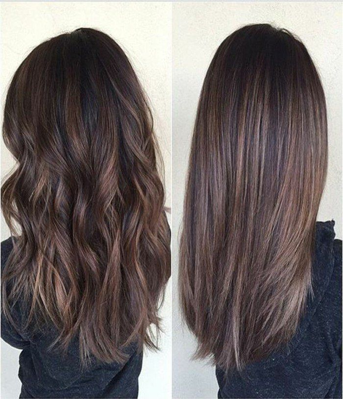 id e tendance coupe coiffure femme 2017 2018 couleur de cheveux marron glac cheveux longs. Black Bedroom Furniture Sets. Home Design Ideas