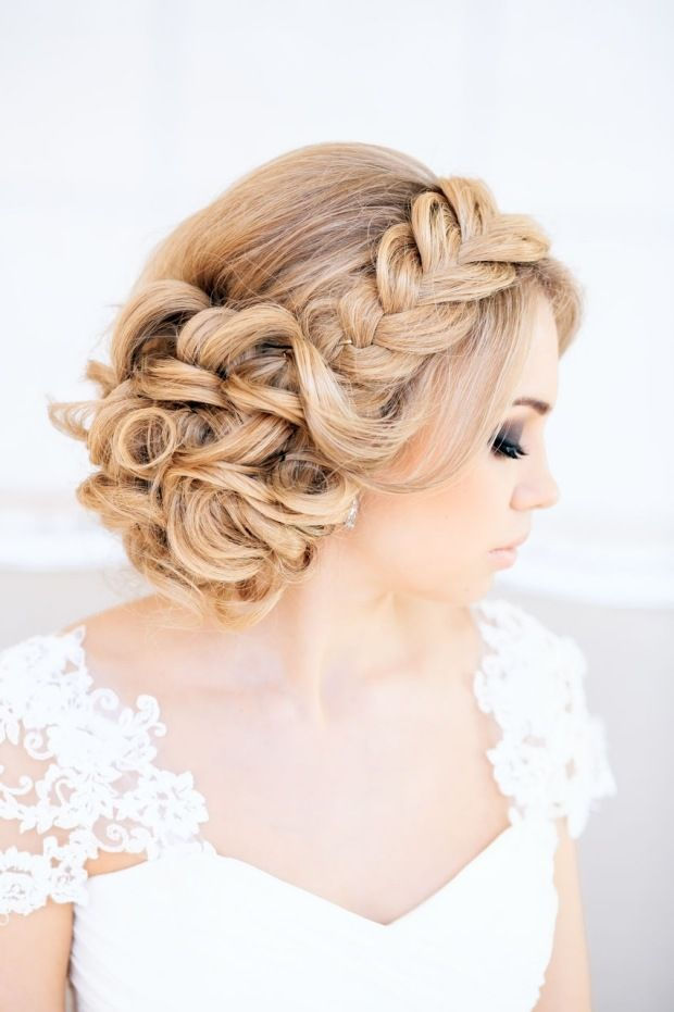 Coiffure femme 2018 mi long mariage