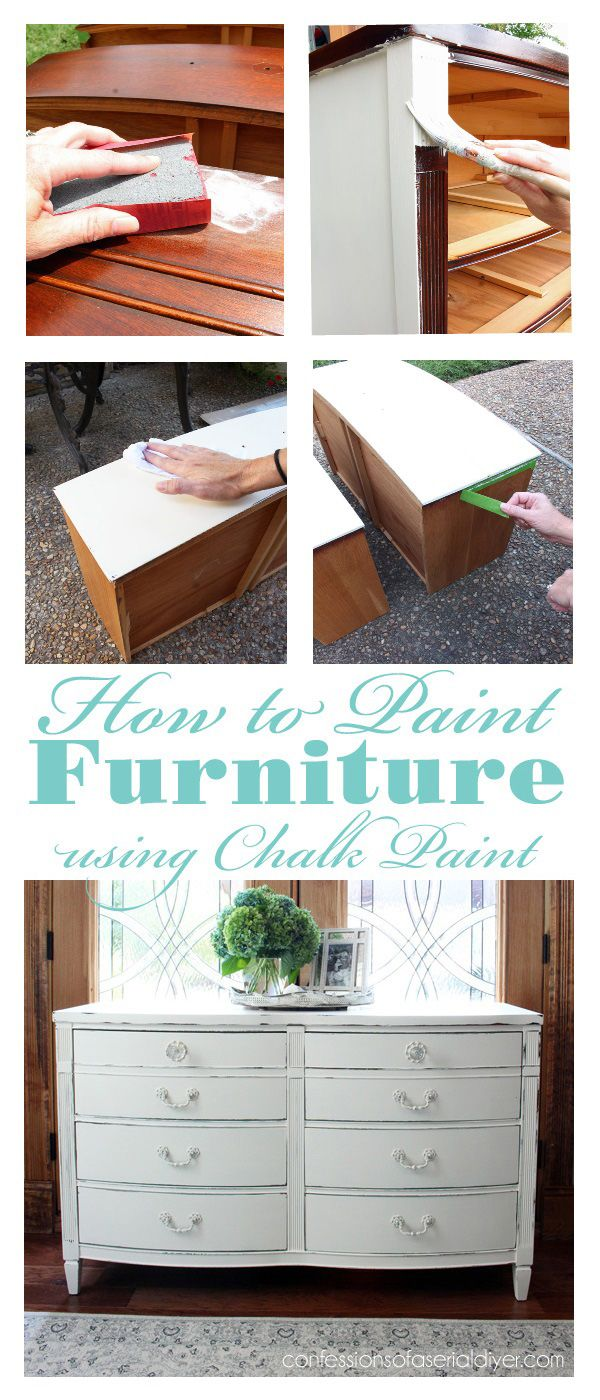 Best Decor Hacks How To Paint Furniture Using Chalk