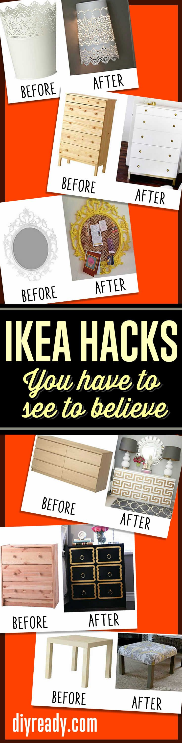 Best decor hacks ikea hack ideas ikea furniture hacks you have to see to believe diy - Fascinating home ideas decorating inspirations you have to see ...