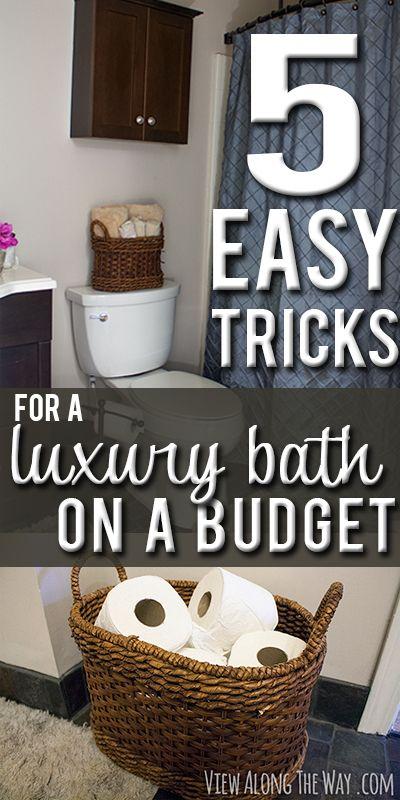 Best decor hacks make your guest bathroom feel luxurious for Bathroom decor hacks