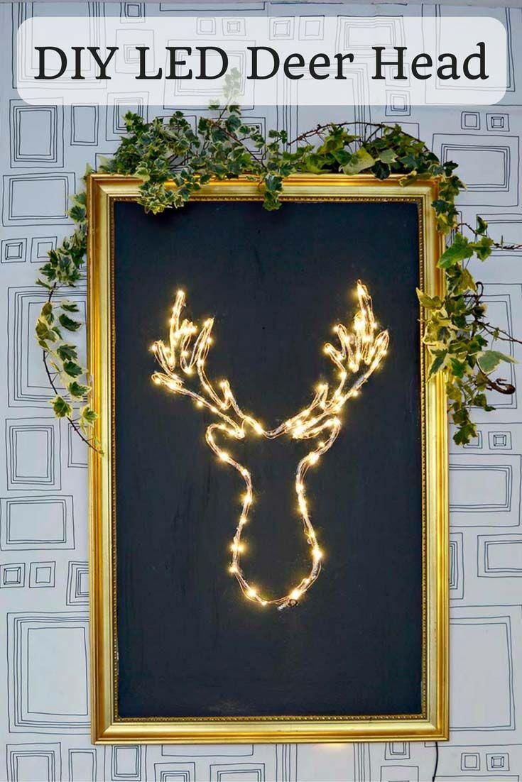 Description. Make your own brilliant DIY LED Deer Head Christmas decoration.