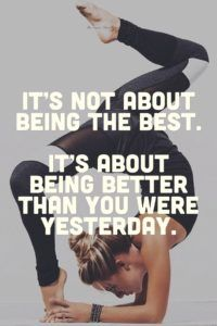 fitness motivation  it's not about being the best it's