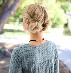 id e tendance coupe coiffure femme 2017 2018 chignon facile faire coiffure avec deux. Black Bedroom Furniture Sets. Home Design Ideas