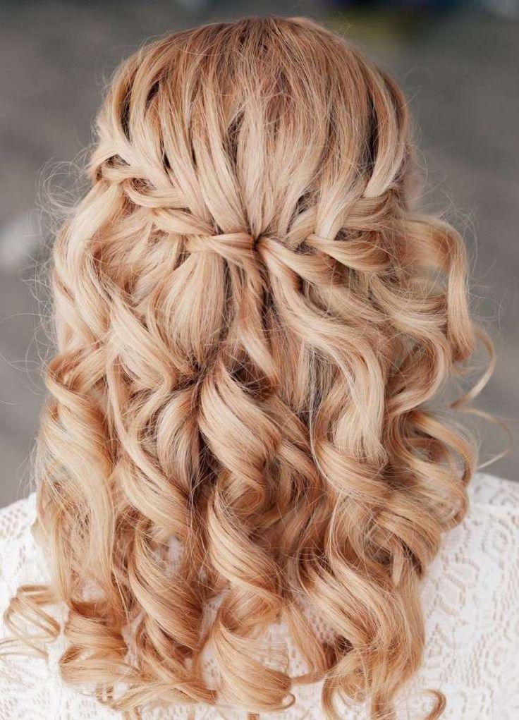 cheap description coiffure mariage tresse diadme cheveux long boucls with coiffure  mariage cheveux mi long