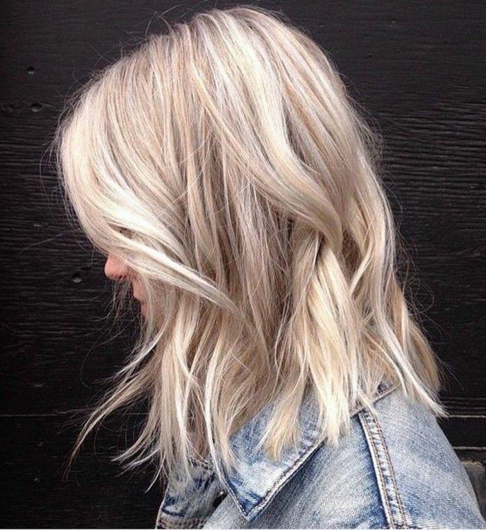 Id e tendance coupe coiffure femme 2017 2018 un balayage blond polaire pour un look moderne - Coiffure moderne 2017 ...
