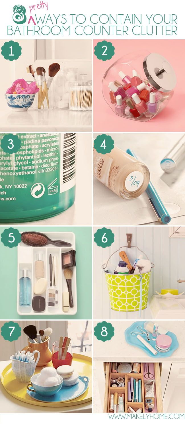 Best decor hacks eight pretty ways to contain your for Bathroom decor hacks