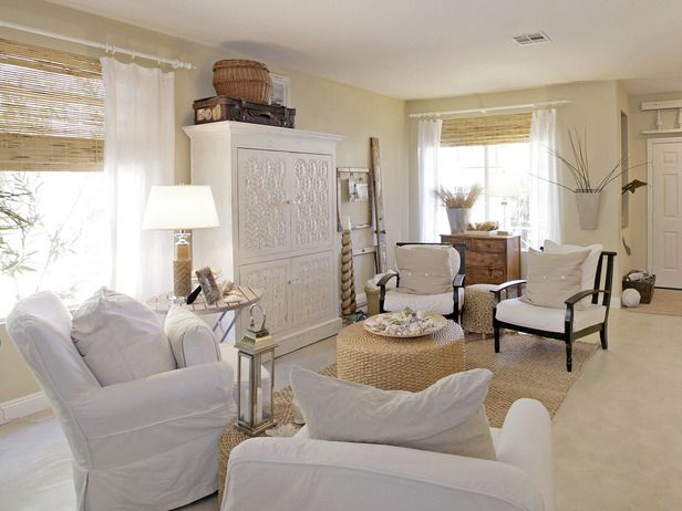 Best decor hacks white cottage style living room with for Room design hacks