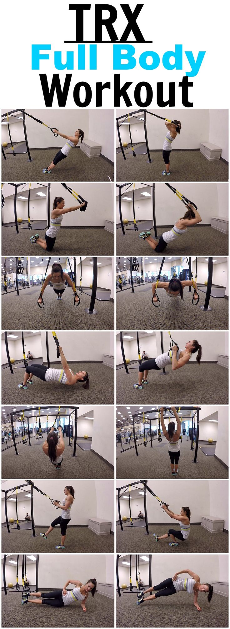 image about Printable Trx Workout titled Exercise Commitment : 7 Physical exercises for a complete entire body TRX work out
