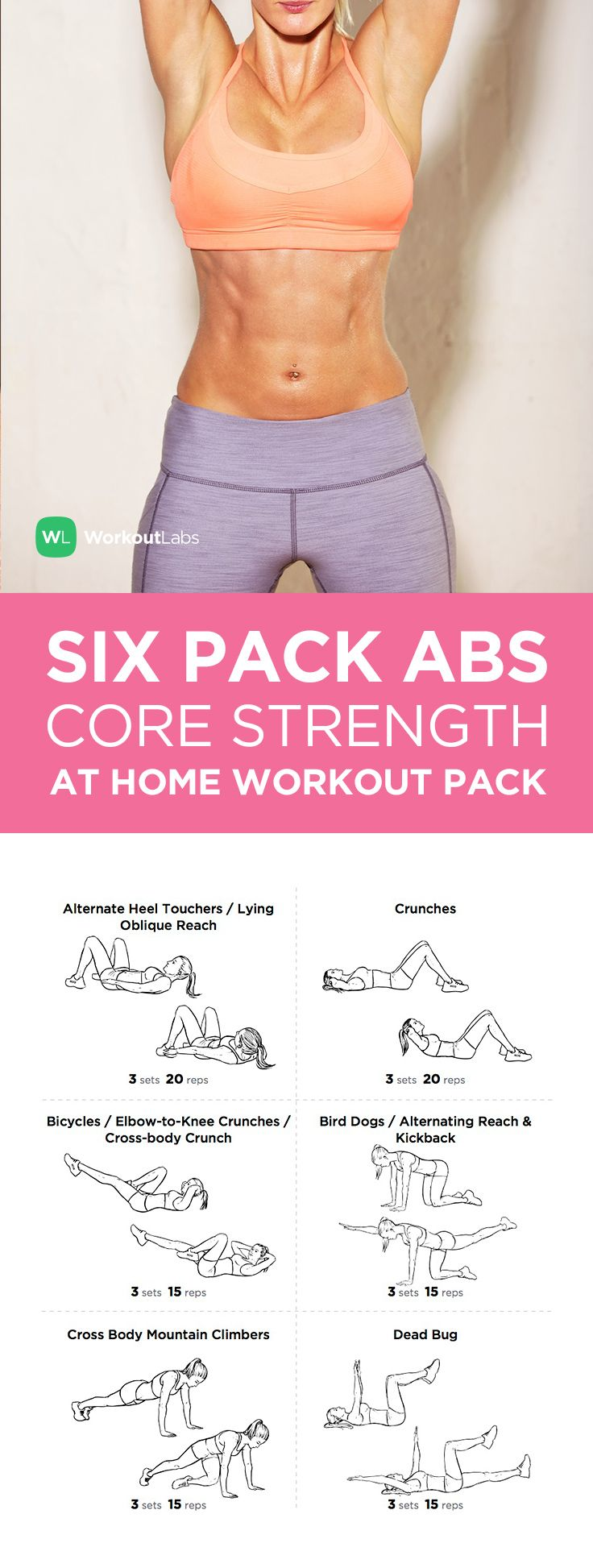 Fitness Motivation Six Pack Abs Core Strength At Home Workout Pack Visit To
