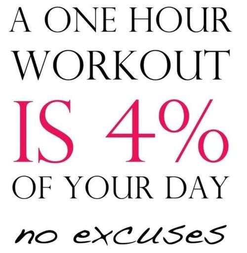 b9a23dbaf Fitness Motivation : A one hour workout is only 4 percent of your ...