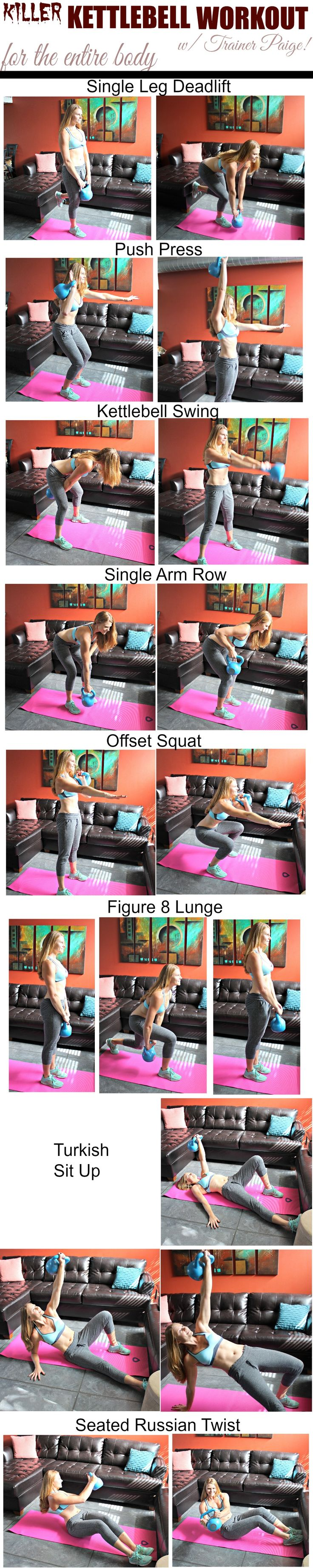 Fitness Motivation Killer Kettlebell Workout For The Total Body Your Trainer Paige