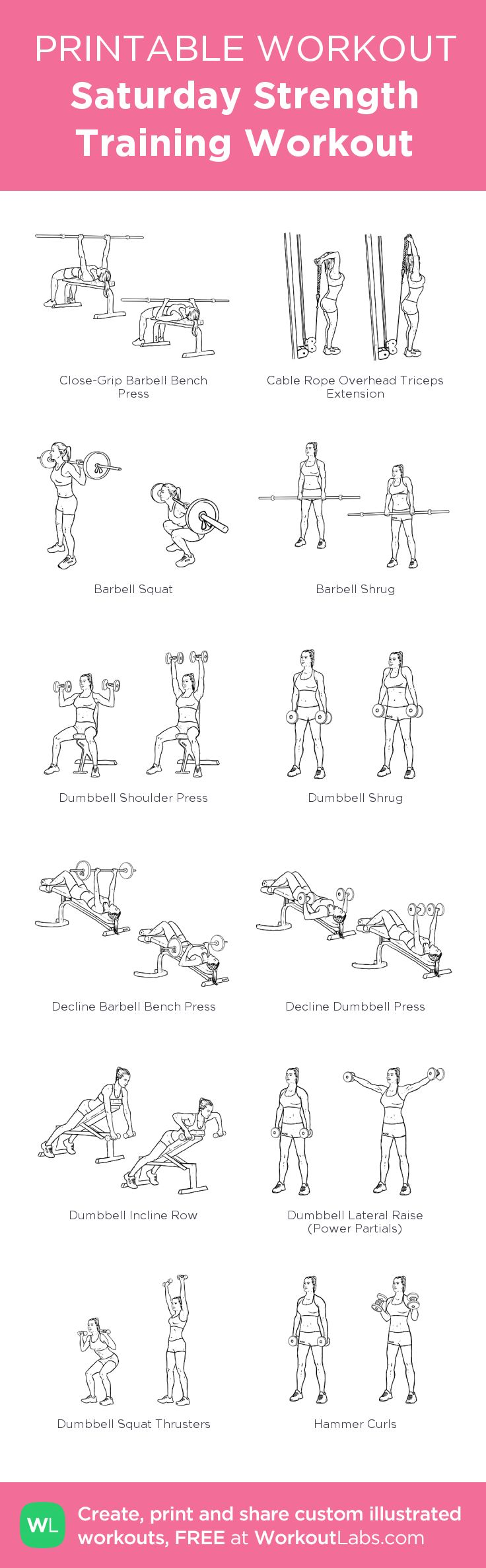 Fitness Motivation : Saturday Strength Training Workout: my