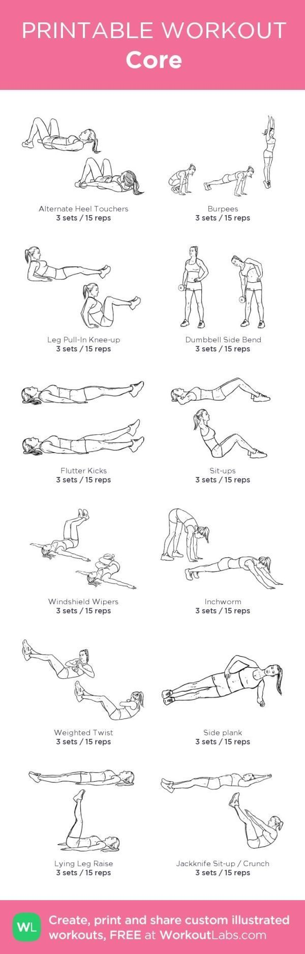 photograph about Printable Workouts named Health Commitment : Main: my customized printable exercise routine by means of