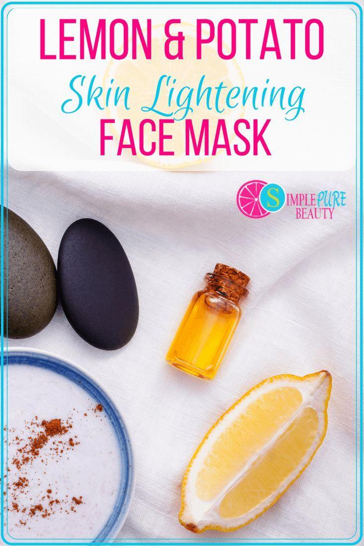 Idee Pour Diy Masque Diy Lemon Potato Skin Lightening