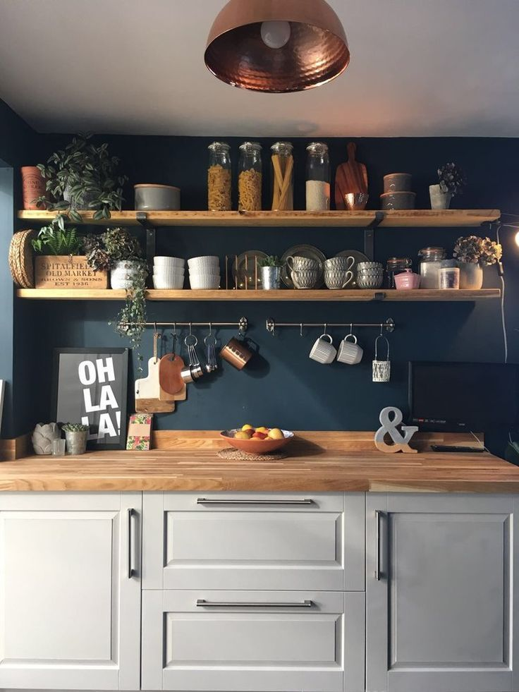 Home Decor Inspiration Laura Has Used Hague Blue On Her Kitchen