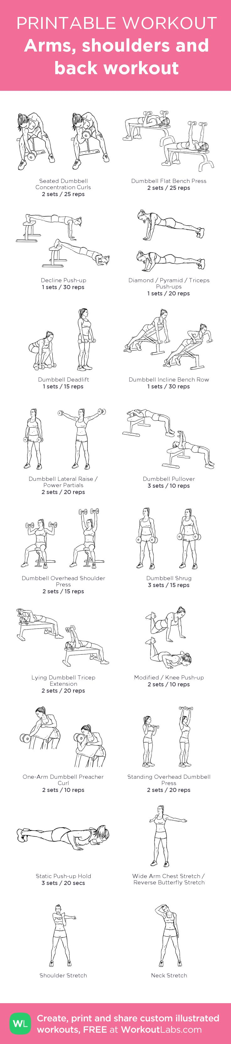 fitness motivation arms shoulders and back workout my visual