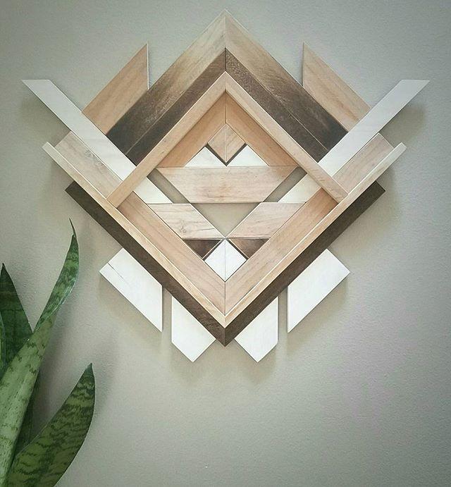 Decorative Rocks Ideas Geometric Wood Wall Art By Amanda Millner