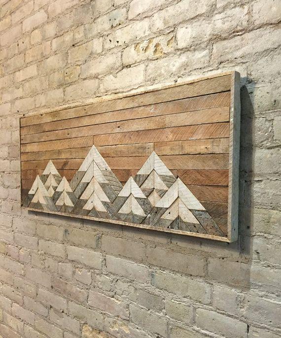 Decorative Rocks Ideas Reclaimed Wood Wall Art Wall Decor Twin
