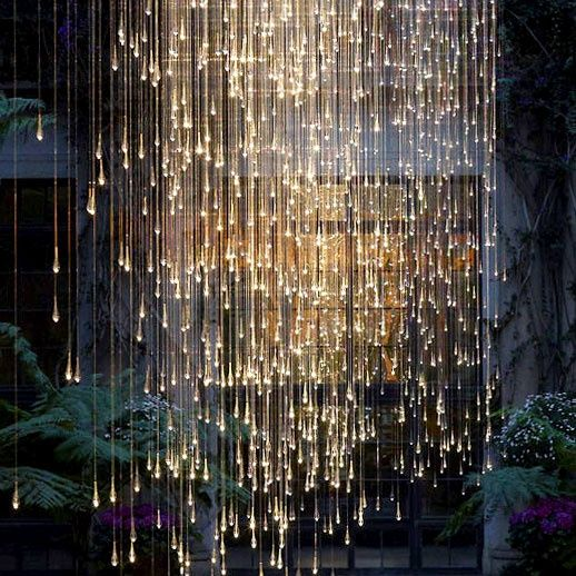 Home Decor Inspiration : Falling Rain Light Exhibit At