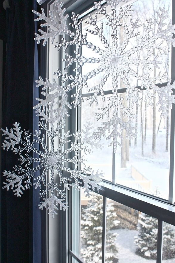 Window Decorations For Christmas Good Ideas For Snow