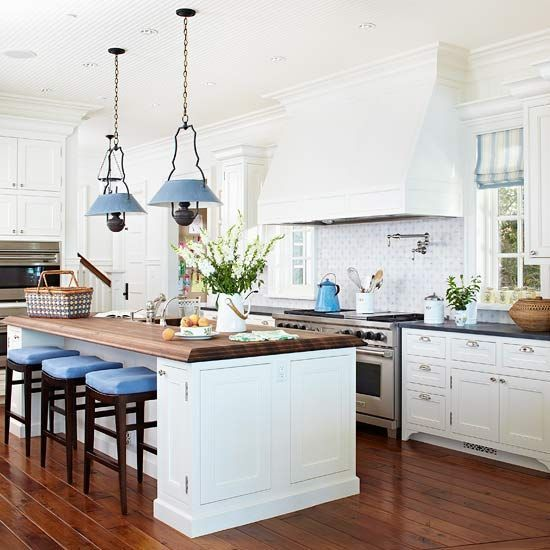 Kitchen Decor Inspiration: Home Decor Inspiration : Traditional Kitchen With Blue