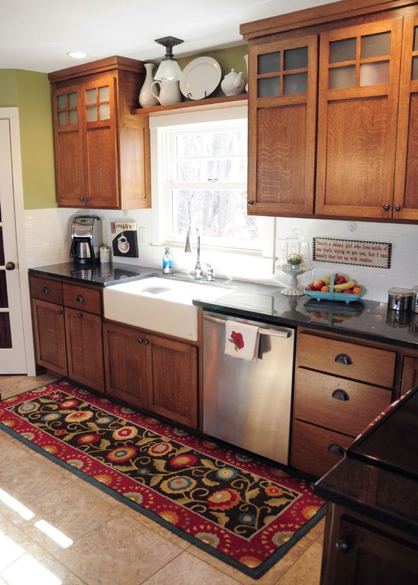 Kitchen With Oak Cabinets And Stainless Steel Appliances