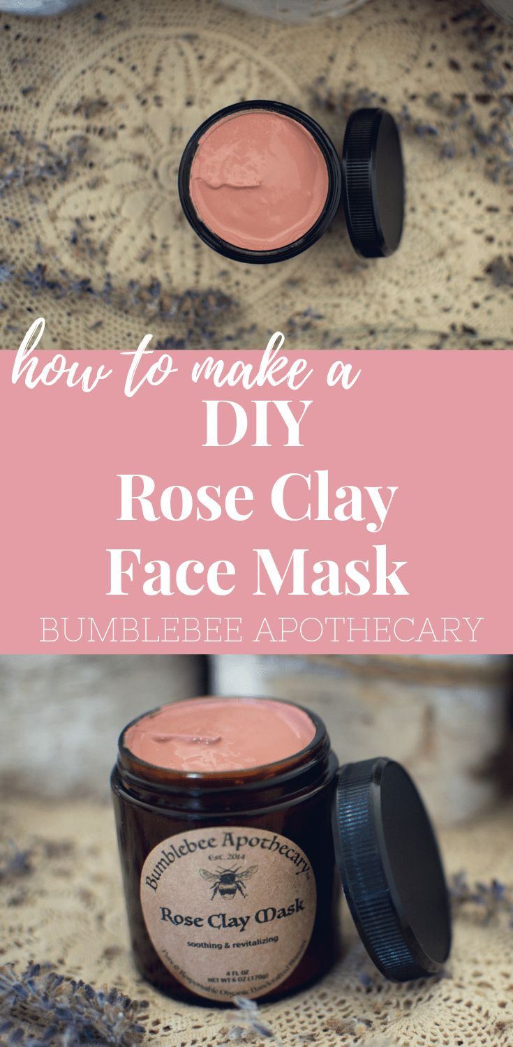 Idee Pour Diy Masque How To Make A Rose Clay Face Mask