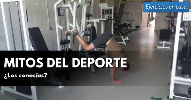 """mythes du sport """"width ="""" 640 """"height ="""" 335 """"srcset ="""" https://ejerciciosencasa.as.com/wp-content/uploads/2016/09/mitos-deportivos-640x336.jpg 640w, https: // Exercisesencasa.as.com/wp-content/uploads/2016/09/mitos-deportivos-300x158.jpg 300w, https://ejerciciosencasa.as.com/wp-content/uploads/2016/09/mitos-deportivos-768x402 .jpg 768w, https://ejerciciosencasa.as.com/wp-content/uploads/2016/09/mitos-deportivos.jpg 958w """"tailles ="""" (largeur maximale: 640 pixels), 100vw, 640 pixels """"/></p> <ul><li><strong>Les chaussures ne sont pas importantes:</strong> J'ai rarement entendu cette conviction, mais j'estime qu'il est important de préciser qu'il est essentiel d'utiliser des chaussures confortables et de permettre les mouvements lors d'une activité physique tout en offrant un bon pied. Cela évite les blessures et les problèmes articulaires. Cependant, il existe des disciplines dans lesquelles seuls les exercices sont effectués pieds nus, mais cela est dû à d'autres problèmes qui dépassent les critères de l'entraînement physique traditionnel.</li> </ul><ul><li><strong>Les exercices effectués à faible intensité ne donnent pas de résultats:</strong> Cette croyance n'est pas vraie, car l'exercice aérobique ou sans haltérophilie, bien que d'intensité et de vitesse différentes, tonifie également les muscles.</li> </ul><p>C'est pourquoi j'ai réessayé certains des principaux<strong> mythes sportifs</strong> qui sont généralement entendus, et bien qu'il y ait toujours des personnes qui continuent à défendre leurs convictions, j'estime important de sortir du doute et de ne pas être confondu face à un faux mythe. Il est essentiel d'obtenir des informations lors de l'exercice physique et de toujours consulter un professionnel qui peut nous aider sans aucun doute.</p> <div id="""