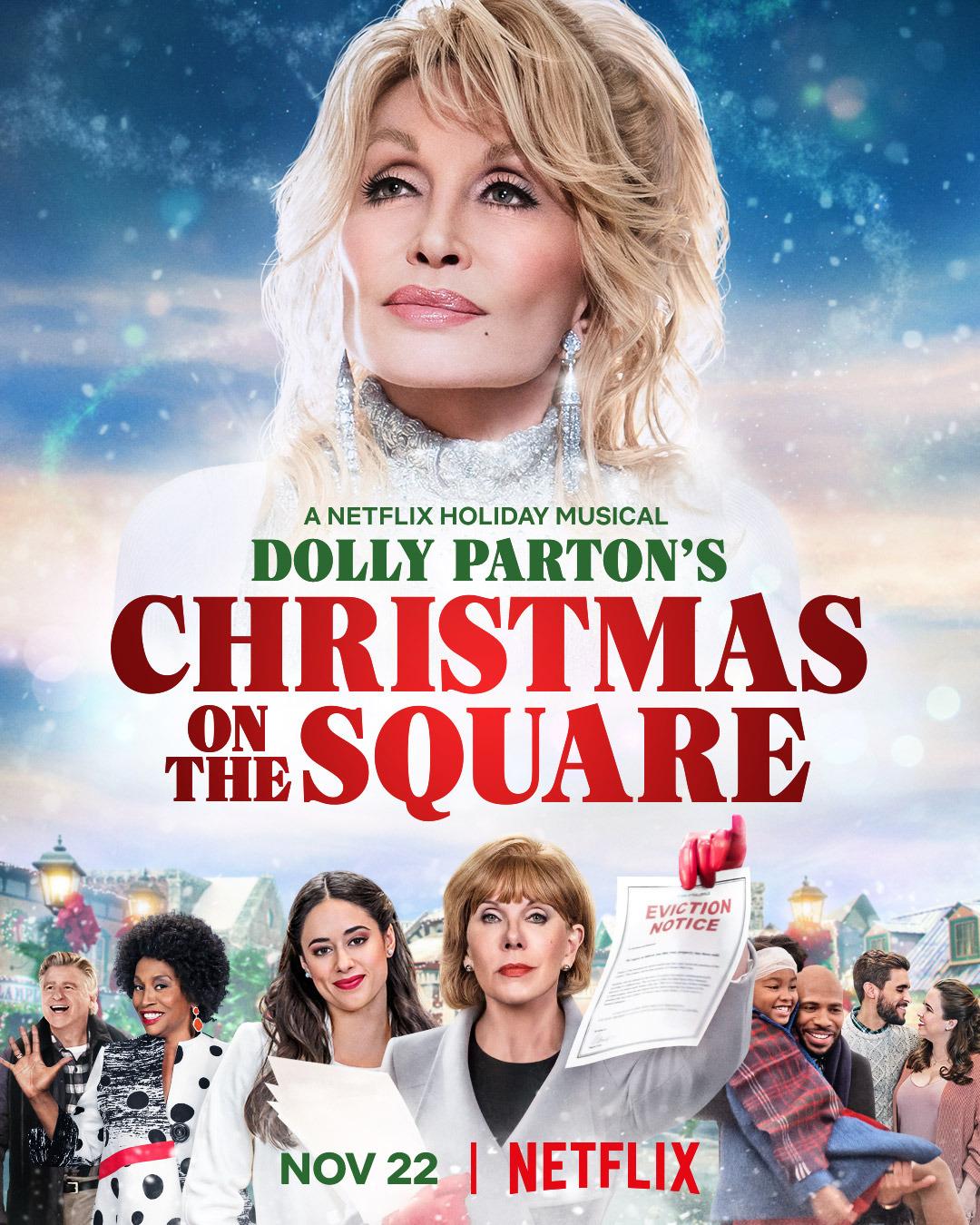 """""""Le Noël de Dolly Parton sur la place"""" affiche"""
